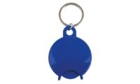Porte-Clés Publicitaire CADDIE DESIGN ROND Bleu
