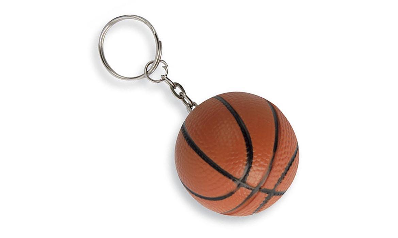 Porte Clés Antistress Ballon Football Basket PU Publicitaire