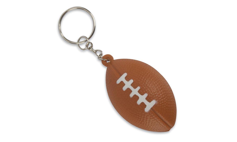 Porte Clés Antistress Ballon Football NFL Rugby PU Publicitaire