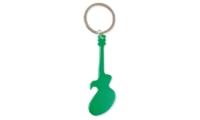 Porte-clés Aluminium Publicitaire Guitare Vert