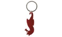 Porte-clés Aluminium Publicitaire Hippocampe Rouge