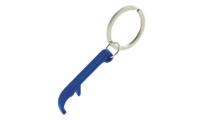 Porte-Clés Publicitaire Aluminium Décapsuleur Bleu