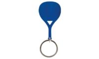 Porte-Clés Publicitaire Aluminium Pagaie Paddle raquette bleu