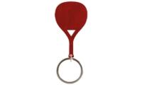 Porte-Clés Publicitaire Aluminium Pagaie Paddle raquette rouge