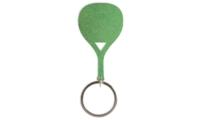 Porte-Clés Publicitaire Aluminium Pagaie Paddle raquette vert