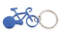 Porte-Clés Publicitaire Aluminium Vélo Bicyclette Aluminium Bleu