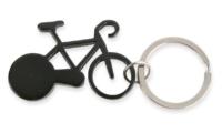 Porte-Clés Publicitaire Aluminium Vélo Bicyclette Aluminium Noir