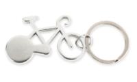 Porte-Clés Publicitaire Aluminium Vélo Bicyclette Aluminium Argent