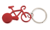 Porte-Clés Publicitaire Aluminium Vélo Bicyclette Aluminium Rouge