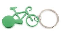 Porte-Clés Publicitaire Aluminium Vélo Bicyclette Aluminium Vert