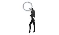 Porte-Clés Publicitaire Aluminium silhouette femme Noir