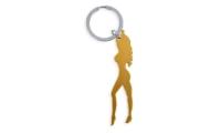 Porte-Clés Publicitaire Aluminium silhouette femme Or