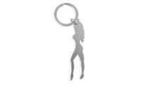 Porte-Clés Publicitaire Aluminium silhouette femme Argent Silver