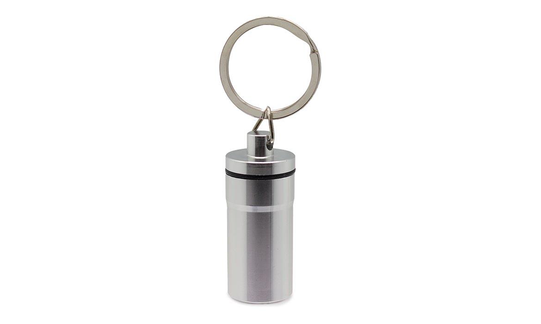 Porte-Clés Publicitaire Aluminium Pilulier Argent Silver