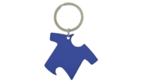 Porte-Clés Publicitaire Aluminium Tee-Shirt Bleu