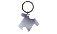 Porte-Clés Publicitaire Aluminium Tee-Shirt Argent Silver