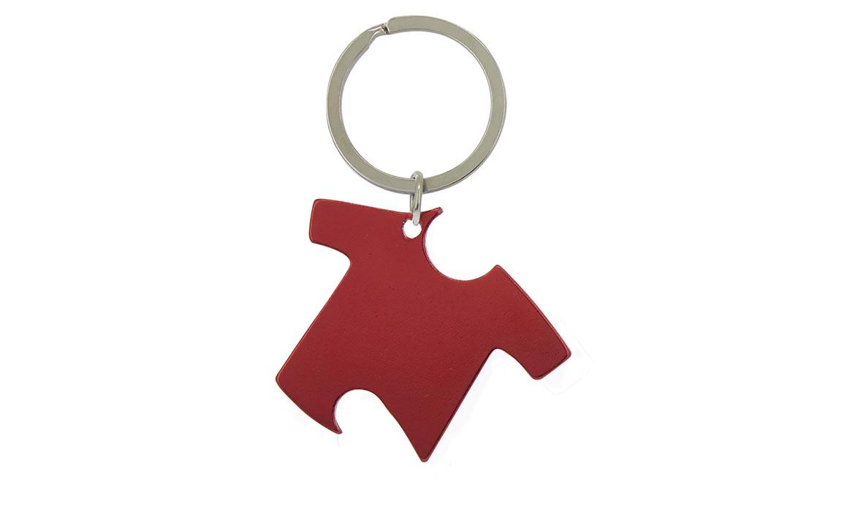 Porte-Clés Publicitaire Aluminium Tee-Shirt Rouge