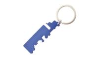 Porte-Clés Publicitaire Aluminium Camion Bleu