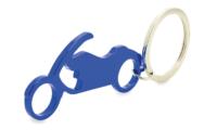 Porte-Clés Publicitaire Aluminium Moto Bleu