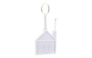 Porte-clés Publicitaire Plastique Mètre Ruban en forme de Maison