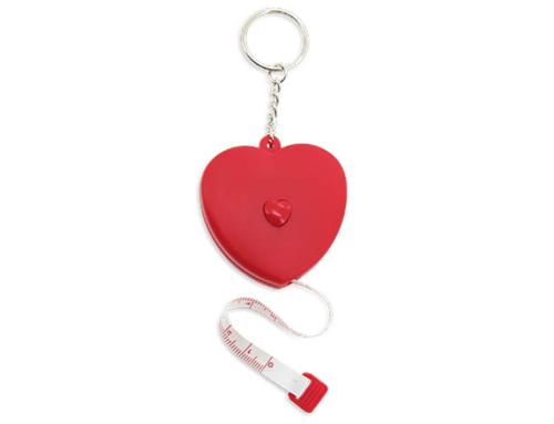Porte-clés Publicitaire Plastique Mètre Coeur
