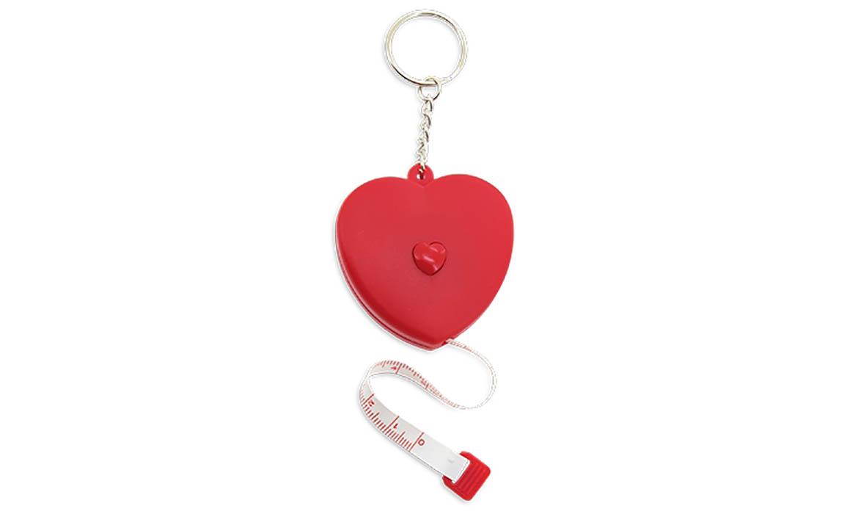 Porte-clés Publicitaire Plastique Mètre Ruban Coeur