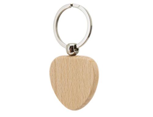 Porte-clés en Bois COEUR