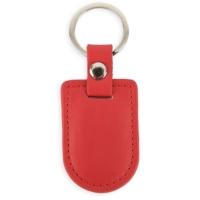 Porte-clés bouclier simili cuir Rouge