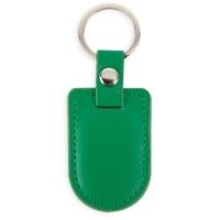 Porte-clés bouclier simili cuir Vert