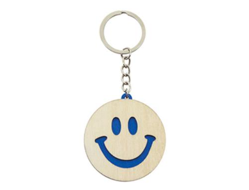 Porte-clés Bois Smileys