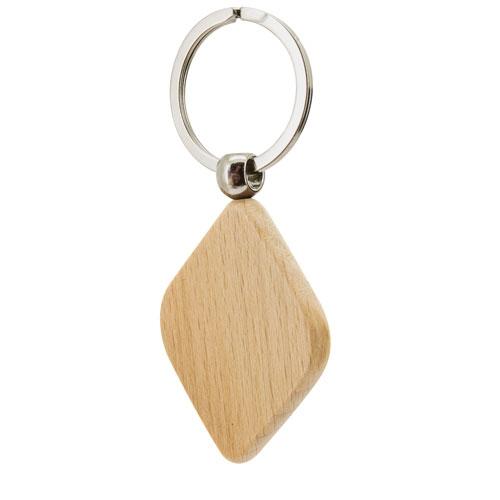 Porte-clés en Bois Losange