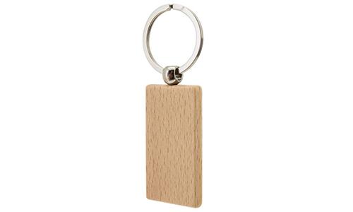 Porte-clef en Bois Rectangle