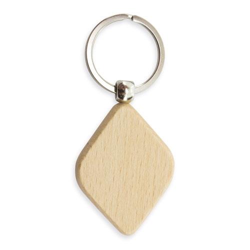 Porte-clefs en Bois Losange