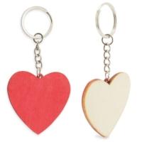 Porte-cles bois coeur